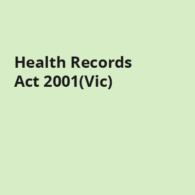Health Records Act 2001(Vic)